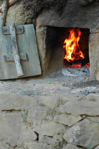 Il forno in pietra